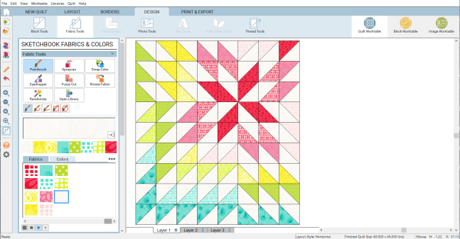 EQ8 baby quilt screenshot